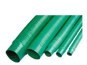 Spring dust absorbing pipe